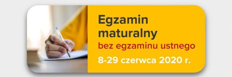 Informacja CKE o egzaminie maturalnym przeprowadzanym w terminie głównym